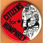HHH 9G - Citizens  For Humphrey  Campaign Button