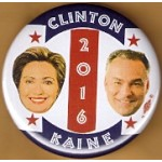 D1Q - Clinton Kaine 2016 Campaign Button