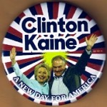 Hillary 39D - Clinton Kaine A New Day For America Campaign Button