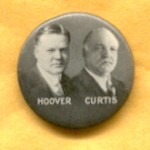 Hoover 1H - Hoover Curtis Campaign Button