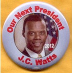 Hopeful 107F - Our next President 2012 J.C. Watts Campaign Button