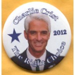 Hopeful 106F - Charlie Crist 2012 The Right Choice Campaign Button