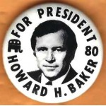 Hopeful 81E - For President 80 Howard H. Baker Campaign Button