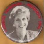 Hopeful 4G - Christie Whitman President 1996 Campaign Button