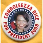 Hopeful 57C - Condolezza Rice For President 2008 Campaign Button