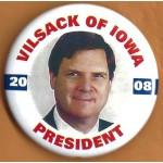 Hopeful 66E - Vilsack of Iowa President 2008 Campaign Button