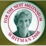 Hopeful 85K - For The Next Millennium  Whitman 2000 Campaign Button