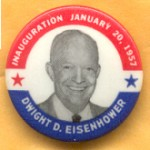 IKE 5D - Inauguration January 20, 1957 Dwight D. Eisenhower Campaign Button