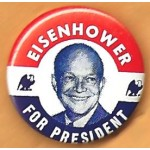 IKE 7P  - Eisenhower For President Campaign Button