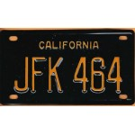 Kennedy JFK 47D -  California JFK 464  Mini License Plate