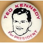 Kennedy EMK 48J - Ted Kennedy For President Campaign Button