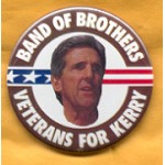 Kerry 1A - Band Of Brothers Veterans For Kerry Campaign Button