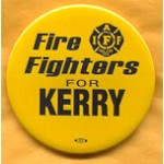 Kerry 6A - Fire Fighters for Kerry IAFF Campaign Button