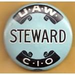 Labor 12B  - U.A.W. Steward C.I.O Pinback Button