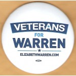MA 1F - Veterans For  Warren Campaign Button