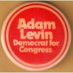 NJ 23Q - Adam Levin Democrat for Congress Campaign Button