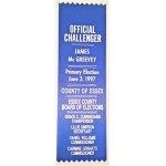 NJ 31Q - Official Challenger James McGreevey  Primary Election June 3 , 1997 Ribbon