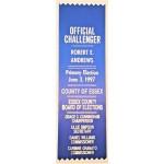 NJ 31R - Official Challenger Robert E. Andrews  Primary Election June 3 , 1997 Ribbon