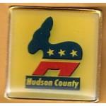 NJ 43E - Hudson County (Democrats) Lapel PIn