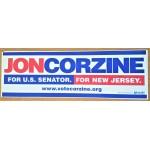 NJ 55D - Jon Corzine For U.S Senator For New Jersey  Bumper Sticker
