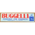 NJ 65C - Buggelli Democrat For Congress Union County 12th District  In 76 Bumper Sticker