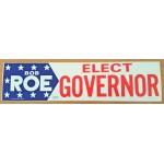 NJ 72C - Bob Roe Elect Governor Bumper Sticker