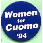NY 16B  - Women for Cuomo '94 Campaign Button