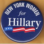 NY 34B - New York Women for Hillary Campaign Button