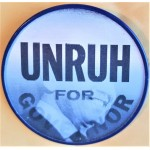 CA 7M - Unruh For Governor Flasher Campaign Button