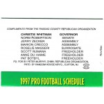 NJ 9V - Christie Whitman Governor 1997 Football Schedule