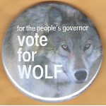 PA 11A - for the people's governor Vote for Wolf Campaign Button