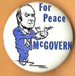 McGovern 17G -   McGovern For Peace Campaign Button caricature