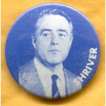 McGovern 10B  - Shriver Campaign Button