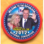 Romney 12B - Romney National Convention Tampa Florida Campaign Button