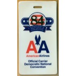 Mondale 17G - 84 Democratic National Convention American Airlines Luggage Tag
