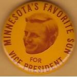 Mondale 4L  - Minnesota's Favorite Son For Vice President Campaign Button