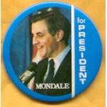 Mondale 4J  - Mondale for President Campaign Button