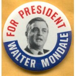 Mondale 7L  - For President Walter Mondale Campaign Button