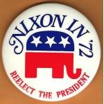 Nixon 17J - Nixon '72 Re-Elect The President  Campaign Button