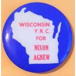 Nixon 77D - Wisconsin Y.R.C. Nixon Agnew Campaign Button