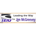 NJ 1S - Leading the Way SEIU for Jim McGreevey Bumper Sticker