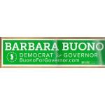 NJ 45J - Barbara Buono Democrat for Governor Bumper Sticker