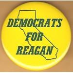 Reagan 12J - Democrats For Reagan Campaign Button