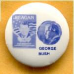 Reagan 33B - Reagan George Bush Campaign Button