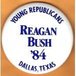 Reagan 34N - Young Republicans Reagan Bush '84 Dallas , Texas Campaign Button