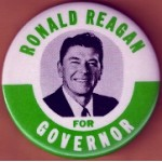 Reagan 79B - Ronald Reagan For Governor Campaign Button