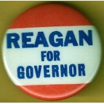 Reagan 80B - Reagan For Governor Campaign Button