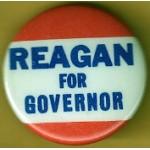 Reagan 80B - Reagan For Governor Campaign Button