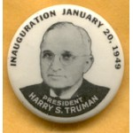 Truman 1D - Inauguration January 20, 1949 President Harry S. Truman Campagin Button
