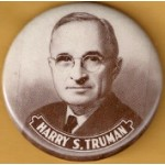 Truman 3F - Harry S. Truman Campaign Button
